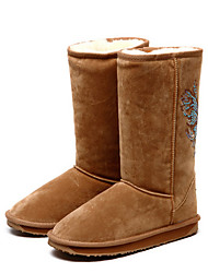 ZAWA Kindes Camel Suede Antislip Warm Cotton Boots