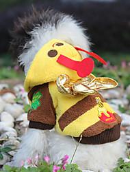 Schöne Cutie Bee Soft-Fleece Cotton Coplay Kostüm für Haustiere Hunde (verschiedene Farben, Größen)