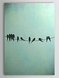 Stretched Canvas Art Birds On A Wire by Thelma Winter