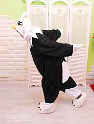 kigurumi Pyjamas Eagle Collant/Combinaison Fête / Célébration Pyjamas Animale Halloween Blanc / Noir Mosaïque Polaire Kigurumi Pour