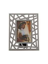 "10""Silver Hollow Family Style Rectangle Picture Frame"