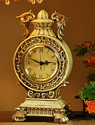 "10 ""Country Style Polvresin Reloj analógico de sobremesa"