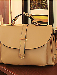 Lady Classic PU Leather Tote/Crossbody Bag