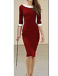 S & Z Frauen Puppe Kragen Red Dress