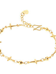 Beads Cross Golden-Plated Bracelet