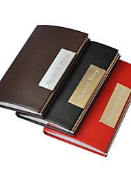 PU personalizado Couro Estilo gravado Negócios Titular Formal (cores sortidas)