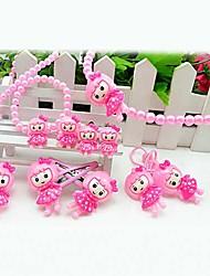 Z&X®  Sweet Pink Imitation Pearl (Necklace&Earrings&Bracelet) Jewelry Set()