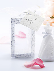 Pure Wedding Dress Shaped Candle - Set of 6