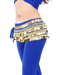 Dancewear Polyester Belly Dance Belt With 338 Coins For Ladies(More Colors)