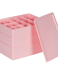 3 Pieces Single Lid Plastic Storage Boxes-2 Colours Available