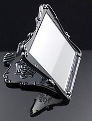 """3 """"Flower Design Black Portable make-up spiegel"""