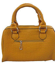 Ische Frauen Boston Crocodile Pattern Tote / Umhängetasche (orange)