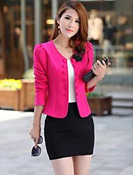 Women's Double Breast Pure Color Coat
