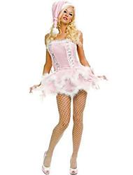 Christmas Costume Pink Lady Velvet da Mulher