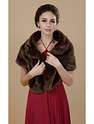 Party/Evening / Casual Faux Fur Shawls Fur Wraps