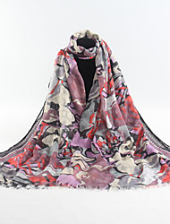 CHUXI Floral Print Shawl(D96-03)