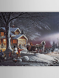 Christmas Holiday Gift Oil Painting Christmas Eve Ready to Hang