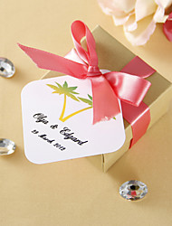 Personalized square tags - Coco (set of 36)