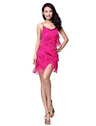 Poliéster dancewear Latina Vestido Dança para Senhoras (mais cores)