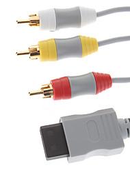 6 футов композитный кабель AV + Wii к HDMI 3,5 мм аудио конвертер для Nintendo Wii Новый
