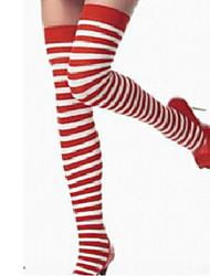 Sanny Women's Stripe Cotton Sexy Christmas Socks