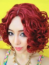 100% Kanekalon Natal cabelo Wine Red Sexy Egg Roll Wig