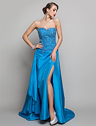 Formal Evening / Prom / Military Ball Dress - Ocean Blue Plus Sizes / Petite A-line Sweetheart Sweep/Brush Train Taffeta