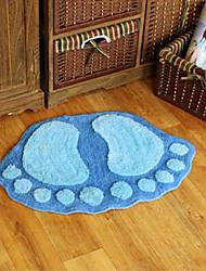 """Bath Rug Footprint Pattern 20x31"""" Blue"""