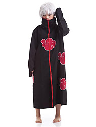 Inspired by Naruto Sasuke Uchiha Anime Cosplay Costumes Cosplay Suits Print Black / Red Cloak