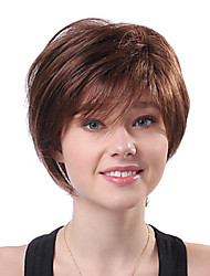 COLORONE Capless Short Brown Wavy Heat-resistant Fiber Wigs FC1103