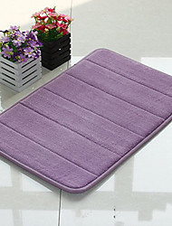 "Bath Mat Memory Foam Stripe Pattern 16x24"" Purple"
