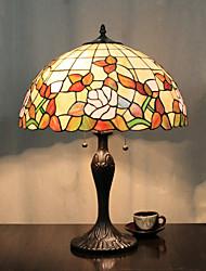 Umbrella Design Table Lamp, 2 Light, Tiffany Resin Glass Painting