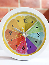 "5 ""Land Art Fruit Stil Alarm Clock Tabletop"