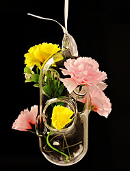 Table Centerpieces Creative Porous Tube Shaped Hanging Glass Vase  Table Deocrations