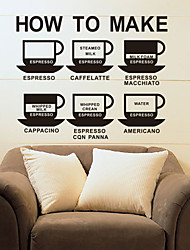 Food How to Make Coffee Wall Stickers