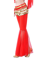 Dancewear Crystal Cotton And Tulle Belly Dance Bottom For Ladies