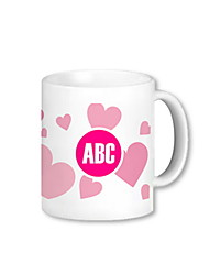 Personalized Charming Mug With Heart Pattern