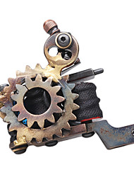 Wheel Gear Design Cast Iron Dual Coils Tattoo Machine Gun