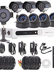 Видеонаблюдения системы безопасности 8-канальный канальный DVR H.264 Kit (4шт +4 шт Dome / Пуля камеры с 1/3 Sony CCD CMOS)