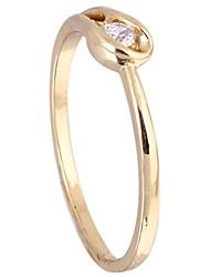 KU NIU Women's Gold Plating Zircon Ring J27067