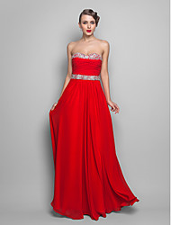 Formal Evening/Prom/Military Ball Dress - Ruby Plus Sizes A-line/Princess Strapless/Sweetheart Floor-length Chiffon