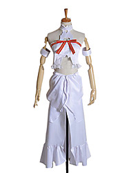 Inspired by Sword Art Online Asuna Yuuki Anime Cosplay Costumes Cosplay Suits Patchwork White / Red Sleeveless Top / Dress / Armlet