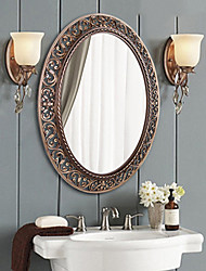 "30""Antique Bronze Color Polyresin Wall Mirror"