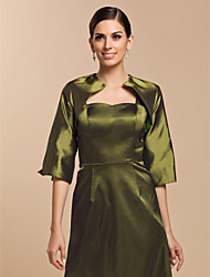 Wedding  Wraps Coats/Jackets Half-Sleeve Taffeta Clover Wedding / Party/Evening Open Front