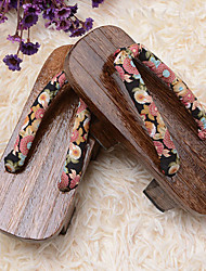 Lolita Shoes Wa Lolita Lolita Platform Shoes Floral 3 CM Brown For Women Cotton / Wood