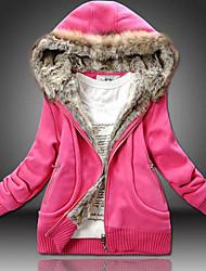Women's Cute Fleece Hoodie Coat