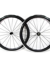 Farsports-700C route 50mm enclume de roues de vélo de route de carbone avec frein en alliage