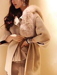 Sara-Wei Nobel Tweed Manteau d'hiver (Camel)