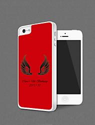 Personalizada Shell alas del ángel protección para el iPhone 5 (más colores)