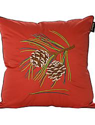 País bordado rama del pino brocado decorativo almohada cubierta